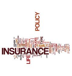 life insurance when only the best will do text vector image