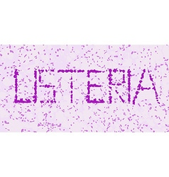 Listeria microorganism letters vector
