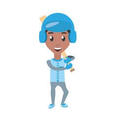Man playing baseball cartoon vector