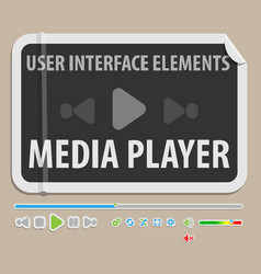 media player ui element vector image