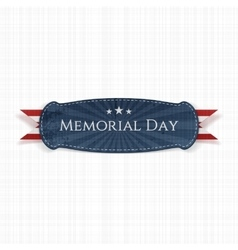 Memorial Day patriotic Banner and Ribbon vector image