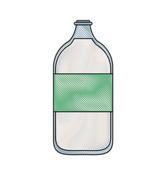 milk glass bottle vector image
