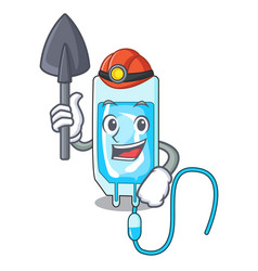 Miner infussion bottle mascot cartoon vector