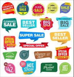 modern labels badges and tags 1 vector image