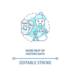 More rest fasting days blue concept icon vector