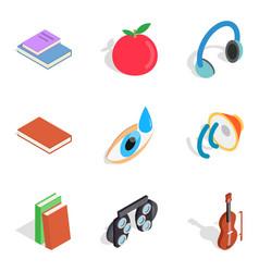 nerd icons set isometric style vector image vector image