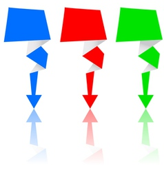 origami arrow set vector image