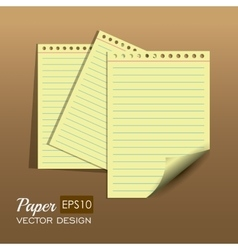 Paper notes and sheets vector image