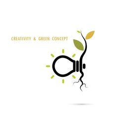 Plant growing inside the light bulb logo vector