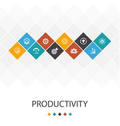 Productivity trendy ui template infographics vector