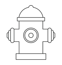 Red fire hydrant fire fighting line vector