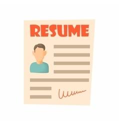 Resume icon cartoon style vector