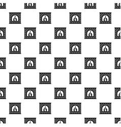 Retro fireplace pattern seamless vector