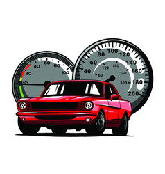 retro muscle car vintage vector image