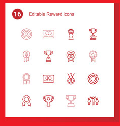 reward icons vector image