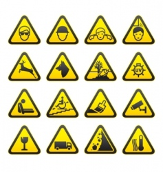 Safety sign set vector