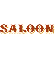 Saloon title vector image