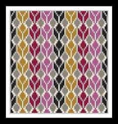 Seamless geometric multicolored native pattern vector image