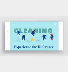 service professional cleaners website landing vector image
