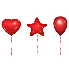 set balloons vector image