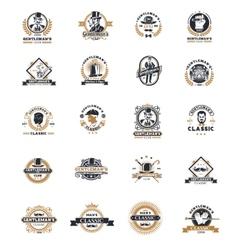 Set of vintage gentleman emblems labels vector
