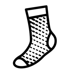 Soft sock icon simple style vector