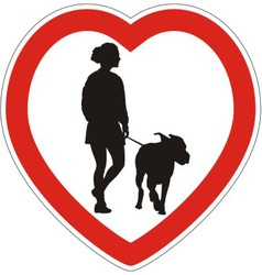 Symbol of space for walking dogs vector