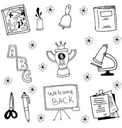 Tools schoool in doodle vector