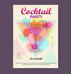 Triangle cocktail cosmopolitan vector