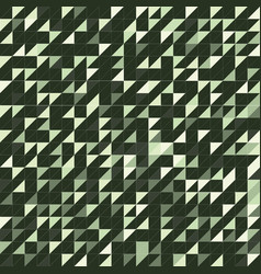 triangle green texture vector image