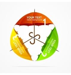 Umbrellas Infographics vector image