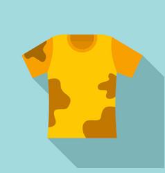 Used kid tshirt icon flat style vector