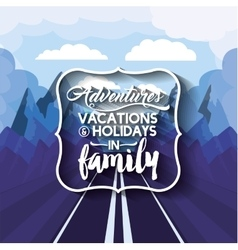 Vacations in family design vector