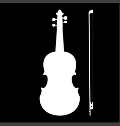 violin the white color icon vector image