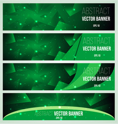 web banner flyer and cover with green triangle vector image