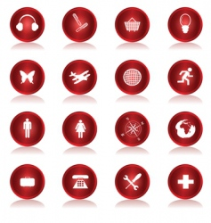 web buttons collection vector image