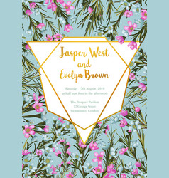 wedding invitation card with beauty floral vector image