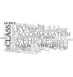 which type of rv is right for you text word cloud vector image