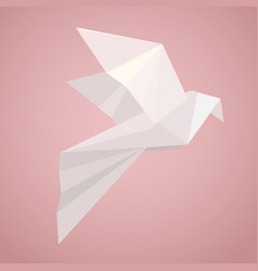 White origami pigeon paper zoo vector