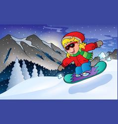 Winter mountain sport theme 2 vector