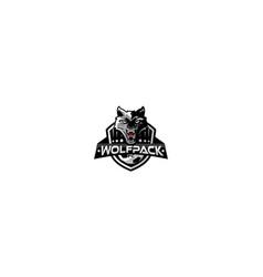 wolf esport logo icon vector image