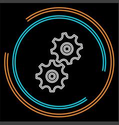 workflow icon element vector image