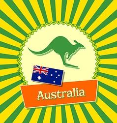 Australian badge vector image