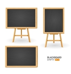 Black Board Set Different View vector image