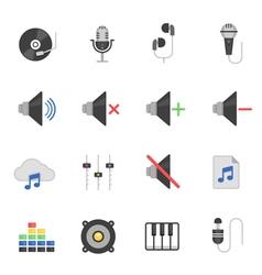 Color icon set - audio vector image vector image
