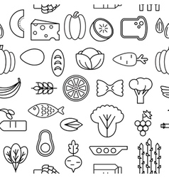 Healty food cartoon seamless pattern vector image vector image