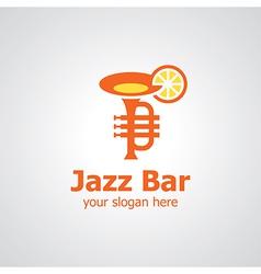 jazz bar logo vector image vector image