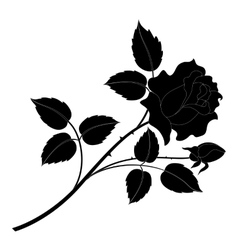 Rose flower silhouettes vector