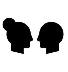 Woman and man profiles vector