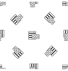 database and brick wall pattern seamless black vector image vector image